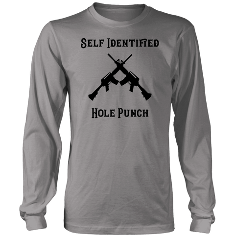Self Identified Hole Punch T-shirt District Long Sleeve Shirt Grey S
