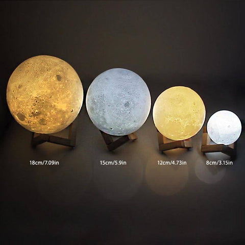 Image of LED Moon Lamp Night Light Night Lights