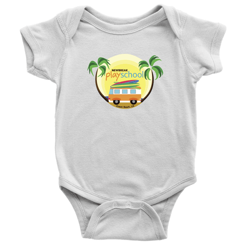 Newbreak Playschool Onesie T-shirt Baby Bodysuit White NB