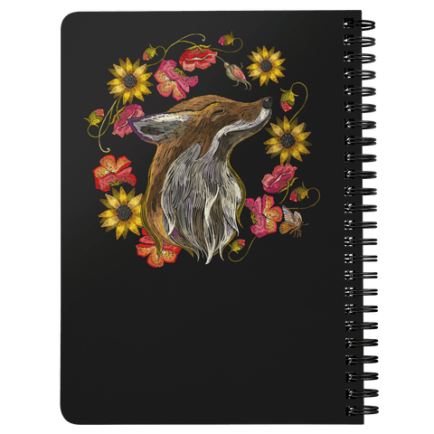 "Image of ""Foxy"" Fox Spiral Notebook Journals"