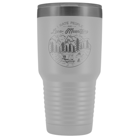 Image of Love the Mountains | 30oz Tumbler Tumblers White