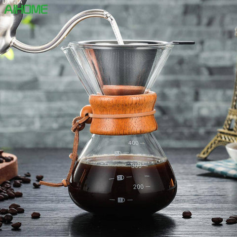 Image of Pour Over Drip Coffee Maker Coffee Pots