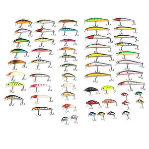 56 pcs Crank Bait Set Fishing Lures