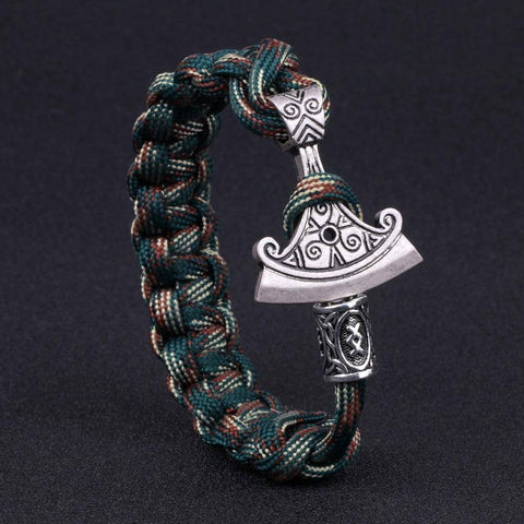 Image of Norse Rune and Axe Paracord Bracelet