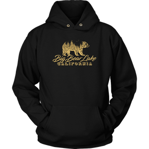 Big Bear Lake California V.2, Gold, Hoodies Long Sleeve T-shirt Unisex Hoodie Black S
