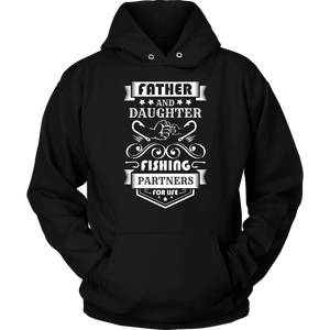 Father and Daughter Fishing Partners T-shirt Unisex Hoodie Black S