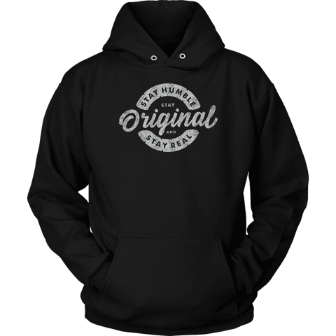 Image of Stay Real, Stay Original | Long Sleeves and Hoodies T-shirt Unisex Hoodie Black S
