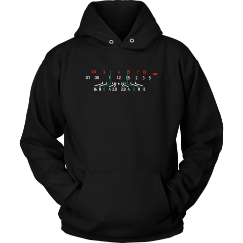 Focal Length, District Shirts and Hoodies T-shirt Unisex Hoodie Black S