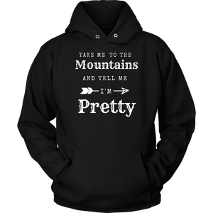 To The Mountains Womens Shirts T-shirt Unisex Hoodie Black S