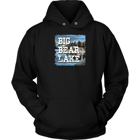 Image of Big Bear Lake V.1 Hoodies and Long Sleeve T-shirt Unisex Hoodie Black S