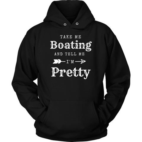 Image of Take Me Boating Womens Shirts T-shirt Unisex Hoodie Black S