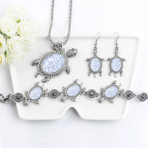 Image of Gorgeous Turtle Jewelry Set Jewelry Sets