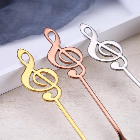 Stainless Steel Treble Clef Spoon Coffee Scoops
