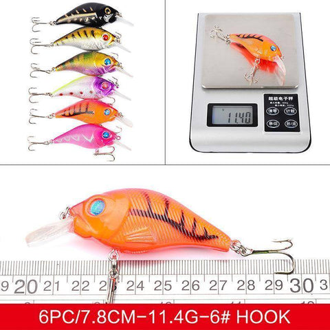40Pcs Fishing Lures Set | Topwater and Diving Hard Bait Fishing Lures