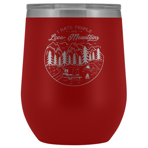 Image of Love The Mountains | Wine Tumbler Wine Tumbler Red