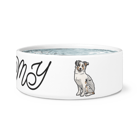 Image of Love my Aussie Dog Bowl Dog Bowls