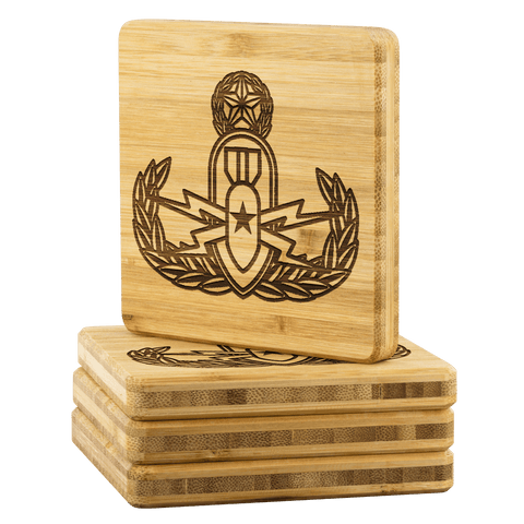 Image of EOD Master Crab on Premium Bamboo Coasters Coasters
