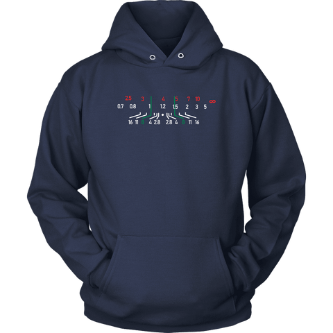 Image of Focal Length, District Shirts and Hoodies T-shirt Unisex Hoodie Navy S