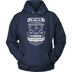 Father and Daughter Fishing Partners T-shirt Unisex Hoodie Navy S