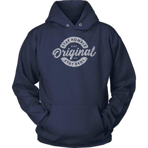 Image of Stay Real, Stay Original | Long Sleeves and Hoodies T-shirt Unisex Hoodie Navy S