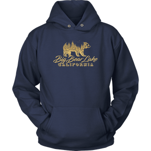 Big Bear Lake California V.2, Gold, Hoodies Long Sleeve T-shirt Unisex Hoodie Navy S