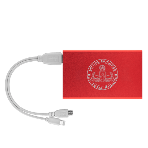 Initial Success to Total Failure EOD Power Bank V 2 Power Banks Red