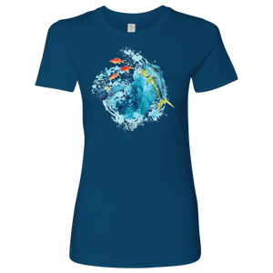 Dorado Fish T-shirt Next Level Womens Shirt Cool Blue S