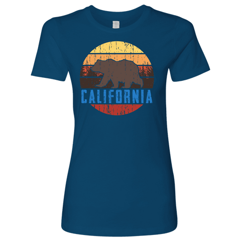 Image of Big Bear California Shirt V.1, Womens Shirts T-shirt Next Level Womens Shirt Cool Blue S