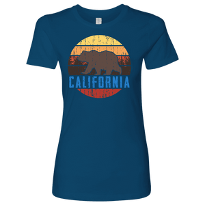 Big Bear California Shirt V.1, Womens Shirts T-shirt Next Level Womens Shirt Cool Blue S