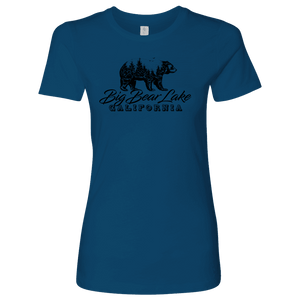 Big Bear Lake California V.2, Womens, Black T-shirt Next Level Womens Shirt Cool Blue S