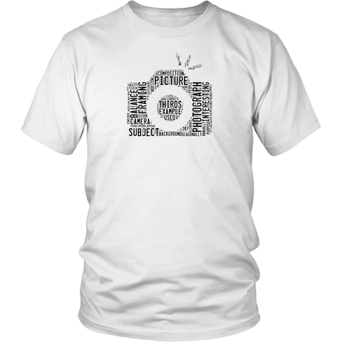 Image of Awesome Word Camera Shirt T-shirt District Unisex Shirt White S