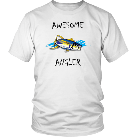 Image of You're An Awesome Angler | V.2 Chiller T-shirt District Unisex Shirt White S