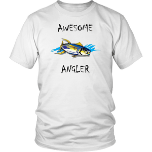 You're An Awesome Angler | V.2 Chiller T-shirt District Unisex Shirt White S