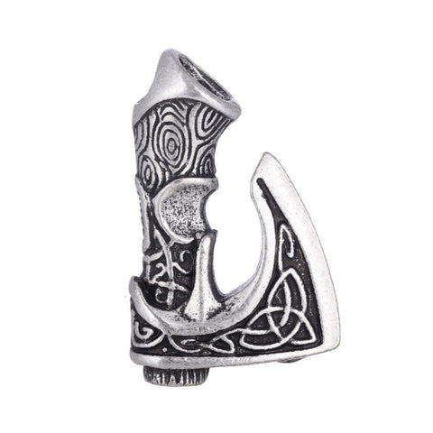 Antique Silver Axe of Perun Nordic Rune Charms
