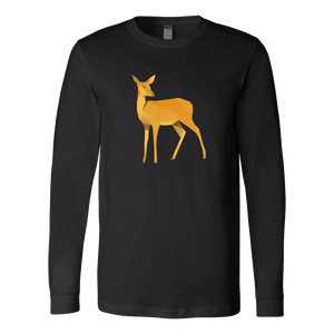 Polygonal Doe T-shirt Canvas Long Sleeve Shirt Black S