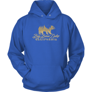 Big Bear Lake California V.2, Gold, Hoodies Long Sleeve T-shirt Unisex Hoodie Royal Blue S