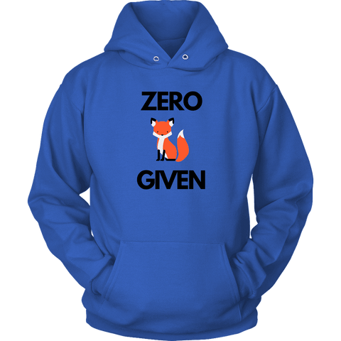Image of Zero Fox Given T-shirt Unisex Hoodie Royal Blue S