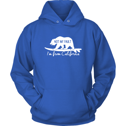 Image of From California T-shirt Unisex Hoodie Royal Blue S