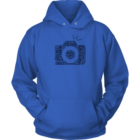Image of Awesome Word Camera Shirt T-shirt Unisex Hoodie Royal Blue S