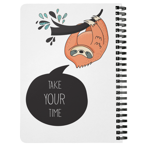 Take Your Time Sloth Journal | Spiral