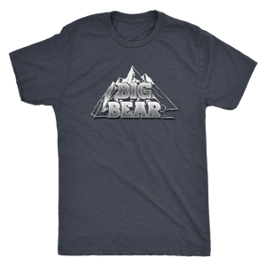 Big Bear V.2, Mens T-shirt Next Level Mens Triblend Vintage Navy S