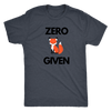 Zero Fox Given T-shirt Next Level Mens Triblend Vintage Navy S