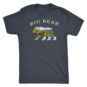 Big Bear V.1 Men's Shirts T-shirt Next Level Mens Triblend Vintage Navy S