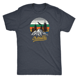 Great Outdoors Shirts | Mens T-shirt Next Level Mens Triblend Vintage Navy S