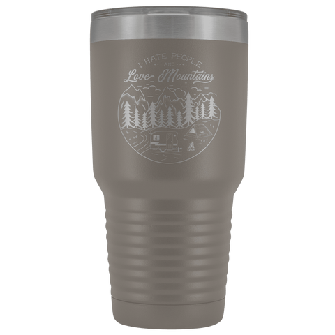 Image of Love the Mountains | 30oz Tumbler Tumblers Pewter