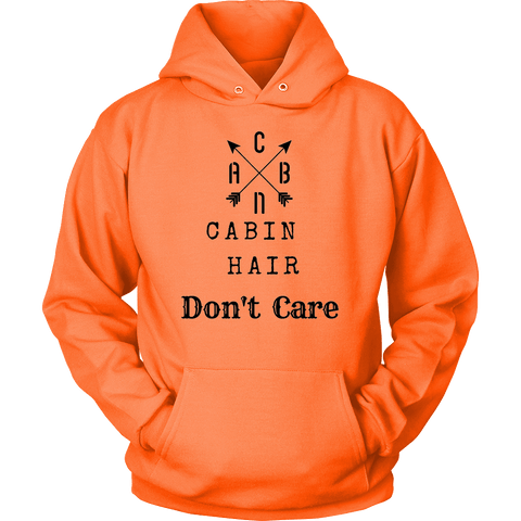 Image of CABN, Cabin Hair, Don't Care T-shirt Unisex Hoodie Neon Orange S