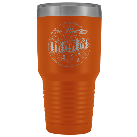 Image of Love the Mountains | 30oz Tumbler Tumblers Orange