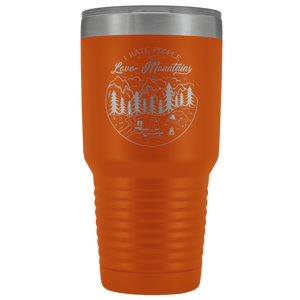 Love the Mountains | 30oz Tumbler Tumblers Orange