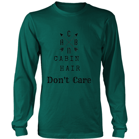 Image of CABN, Cabin Hair, Don't Care T-shirt Long Sleeve Shirt Dark Green S