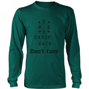 CABN, Cabin Hair, Don't Care T-shirt Long Sleeve Shirt Dark Green S